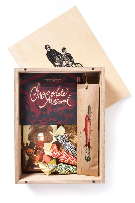 Assorted chocolate wooden box