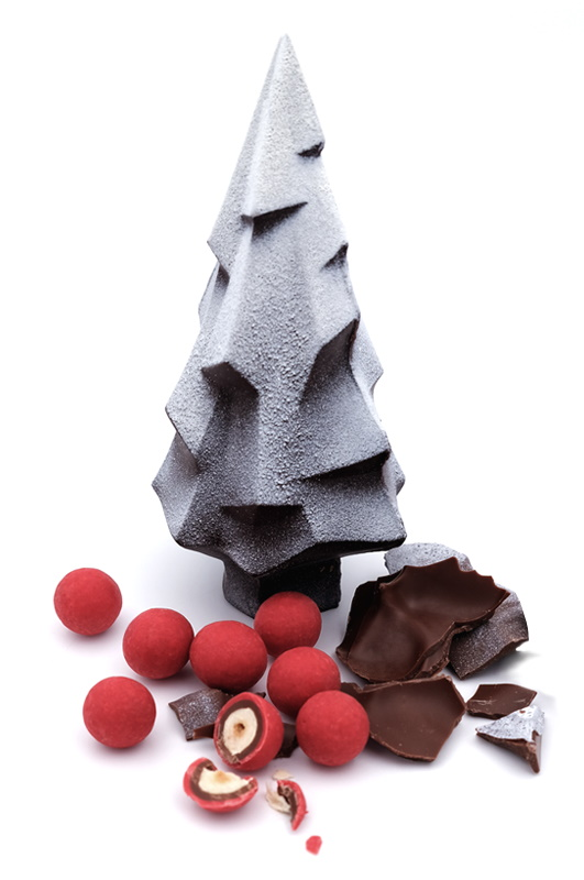 Dark chocolate Christmas tree