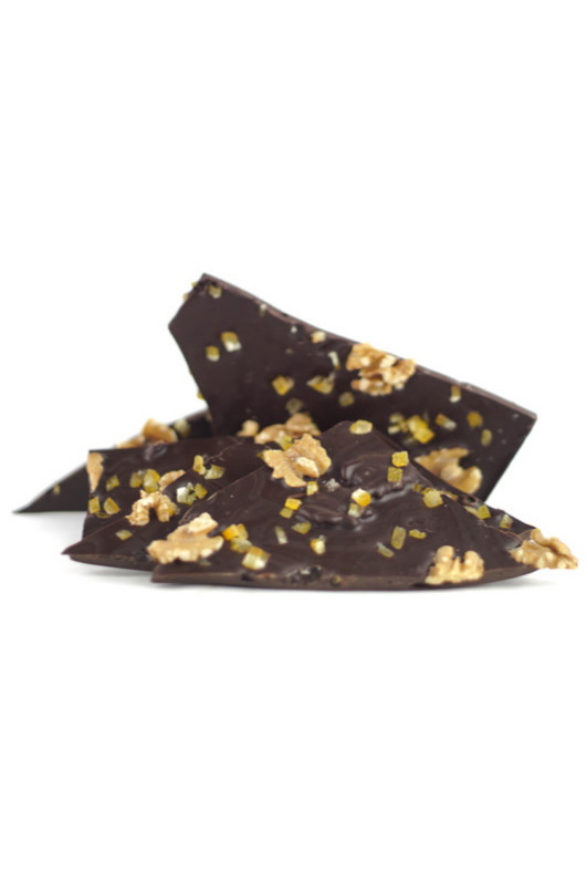 Dark chocolate and Orange and Walnuts